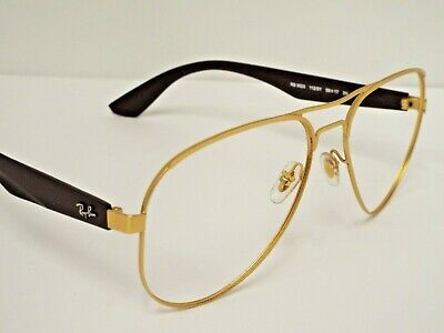 6c1980882b Authentic Ray-Ban RB 3523 112 2Y Brown Gold Aviator Sunglasses Frame Only   205