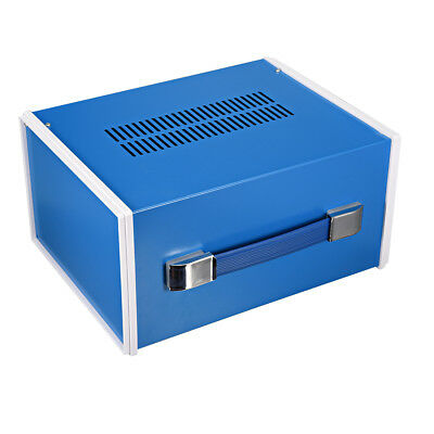 270 x 140 x 120mm Metal Blue Project Junction Box Enclosure Case with Handle