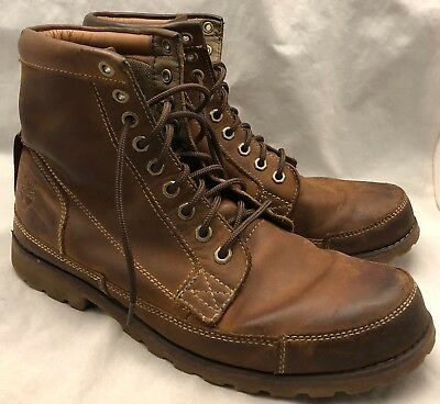 10.5 mens TIMBERLAND EarthKeepers Original Leather 6-Inch Boots Brown  Burnished 71eb44d99aa6