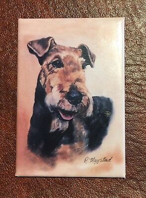 Best Friends Ruth Maystead Magnet NEW AIREDALE TERRIER