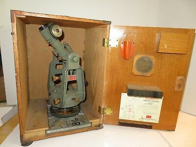 K & E Keuffel & Esser Paragon Jig Transit 71-1010 with Wooden Case