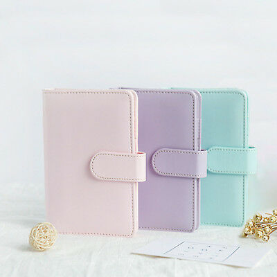 A5 Leather Loose-Leaf-Ring-Binder-Notebook Macaron Color Agenda Planner Diary