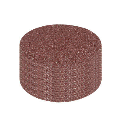 15Pcs 3 Inch Hook and Loop Sanding Disc 60 Grits Flocking Sandpaper Brown