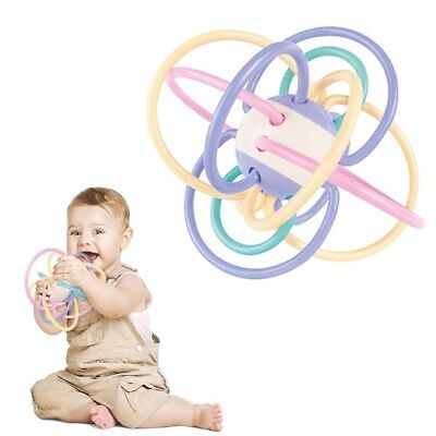 Baby Teeth Training Safety Colorful Ball Kids Teething Massager Infant Tooth Toy