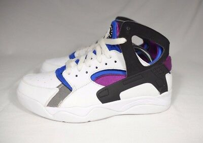 hot sales dce8d eccac Nike Air Flight Huarache PRM QS White Blue Berry Men s Size 8.5 686203-100