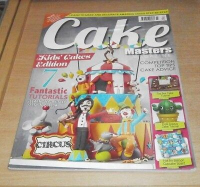 Cake Masters magazine JUL 2018 Kids Edition Circus Toy Box Cactus HotAir Balloon