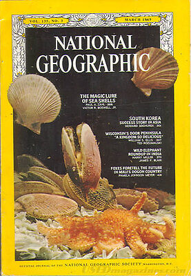 National Geo MAR 1969 SOUTH KOREA SHELLS ELEPHANTS MALI WISCONSIN PENINSULA