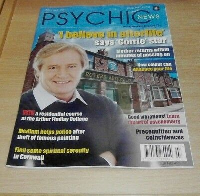 Psychic News magazine JUL 2018 William Roache, Art of Psychometry, Precognition