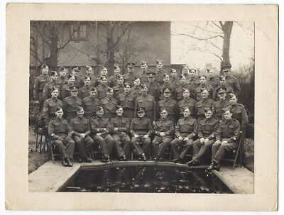 Group of British Soldiers Vintage Photograph c1930s by Sharp of Blackheath
