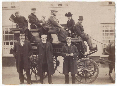 Victorian Horse Drawn Charabanc - Antique Albumen Photograph c1890