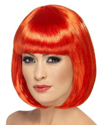 Ladies Bob Fancy Dress Wig Partyrama Costume Wig Red by Smiffys Cosplay