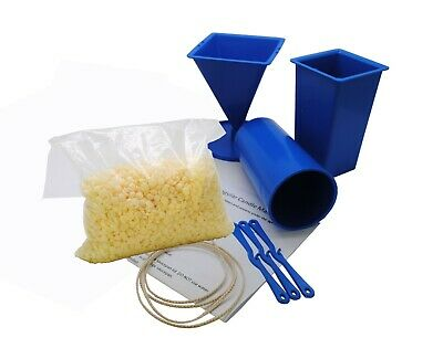 Beginner 3 Mould Candle Making Kit, Pillar, Rectangle, Pyramid, Soy Wax. S7795