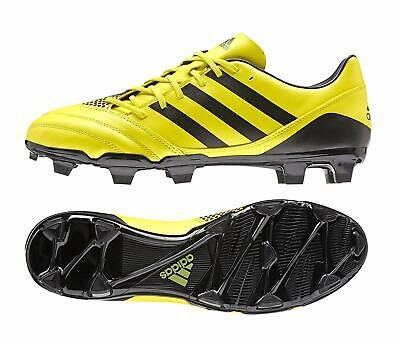 adidas Incurza FG Mens Firm Ground Rugby Sevens Boots Moulded Studs Yellow Black