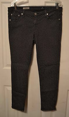981ef6ff43c0a Ag Adriano Goldschmied The Legging Super Skinny Ankle Polkadot Jeans Womens  32R