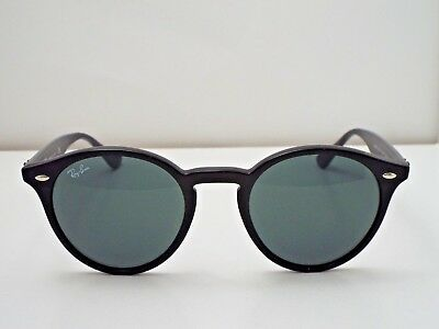d039dbedd29 Authentic Ray-Ban RB 2180 601 71 Round Black Green Classic Sunglasses  175