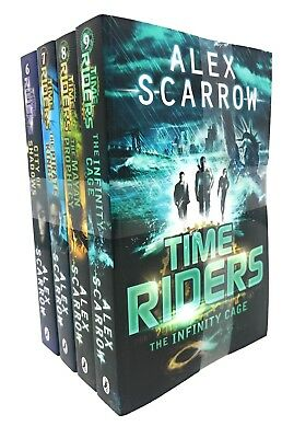 TimeRiders Collection Alex Scarrow 6-9 4 Books Set Gates of Rome, Time Riders ..