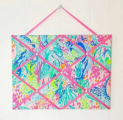 NEW MEMO BOARD Pillow Set With Lilly Pulitzer New Mermaid Cove Delectable Lilly Pulitzer Memo Board