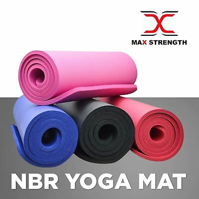 Yoga Mat Pilates Gym Exercise Carry Strap 15mm Thick Large Comfortable NBR Mats