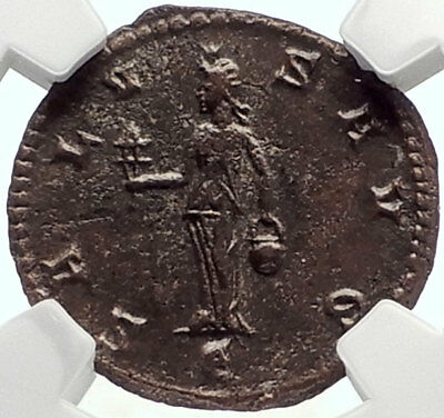 Claudius II Gothicus Authentic Ancient Antioch Roman Coin ISIS Faria NGC i70160