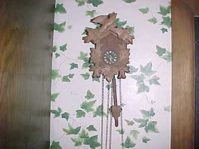 Vintage Small Black Forest Cuckoo Clock for restoration or parts