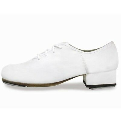 "Sansha Women White 1 1/4"" Heel ""T-World"" Lace-up Oxford Tap Shoes 11 Womens"