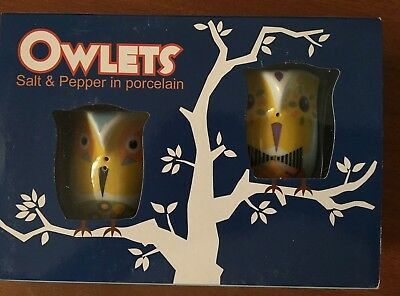 Collectable Multiple Choice Salt  & Pepper Owlets Shakers Brand New Design 1