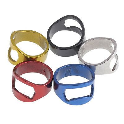 5 Pcs Mixed Ring Beer Bottle Opener Metal Finger Thumb Random Color Bar Tool Set
