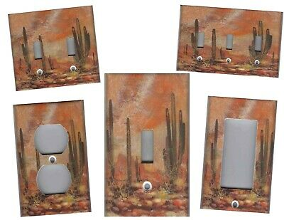 Southwest Desert With Cactus Home Wall Decor Light Switch Plates And Outlets