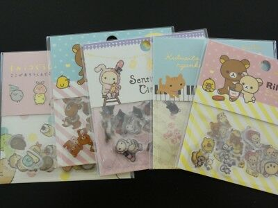 SALE San-X Rilakkuma Sentimental Kutusita Sumikko seal bit sack sticker cute LOT