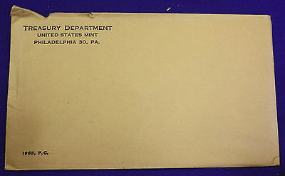 1963 U.S. PROOF SET.  The Coins are U.S. Mint Sealed in a flat cello.
