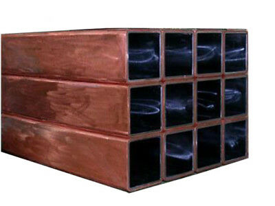 """6*6-16*16mm T2 Red Copper Brass Tubes 50cm 20"""" 1.5mm Wall Metal Square Pipe"""