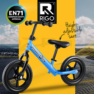 RIGO Kids Balance Bike Ride On Toys Puch Bicycle Wheels Toddler Baby Blue Bikes