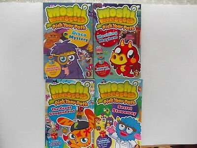 Moshi Monsters Books Pick Your Path  1 – 4 (PB)