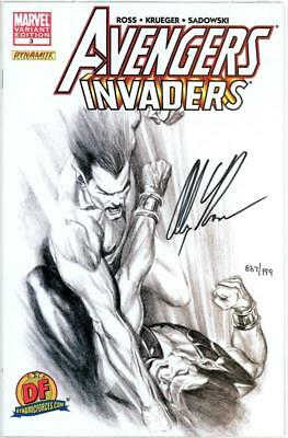 Avengers Invaders #3 Df Dynamic Forces Variant Signed Alex Ross Coa Marvel Movie