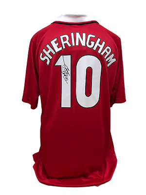 eedd6e4f2 Teddy Sheringham Signed Manchester United Champions League Final 1999 Shirt