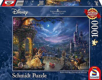 Thomas Kinkade Disney Beauty & the Beast 1000 Piece Jigsaw Puzzle