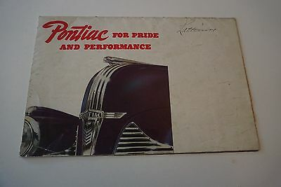"""1940 Pontiac New Sixes and Eights Brochure 18.5"""" x 24.5"""" Fold-Out Poster GD/VG"""