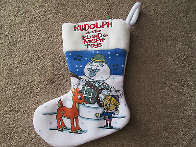 """Rudolph and the Island of Misfit Toys Christmas Stocking 11"""" CVS 1999"""