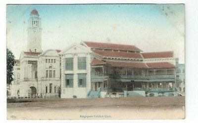 Old Postcard Singapore Cricket Club Malaya Vintage C.1910