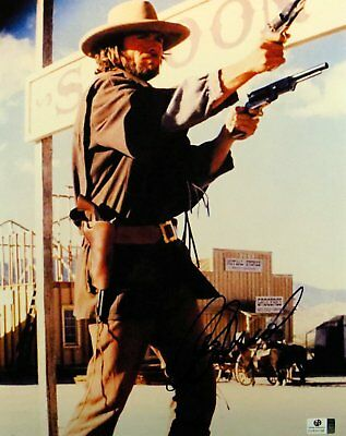 1976 DEPICTION CLINT Eastwood Outlaw Jose Wales Signed 11x14