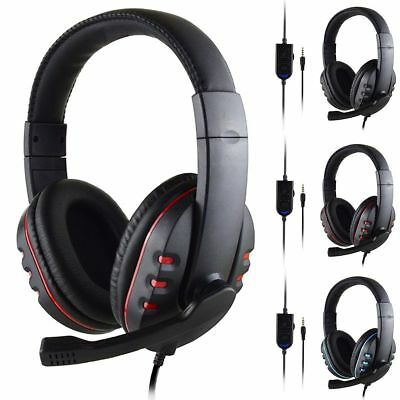 3.5mm Wired Gaming Headset Stereo Surround Headphone With Mic for PS4 Xboxone PC