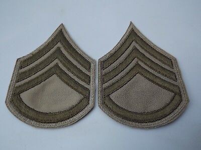 WW2 US Army Staff Sergeant Chevrons Rank Insignia Twill Pair