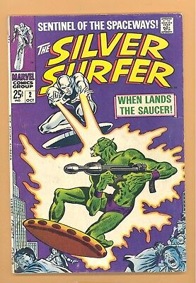 Silver Surfer  #2 Marvel Silver Age Fn- Rare Look