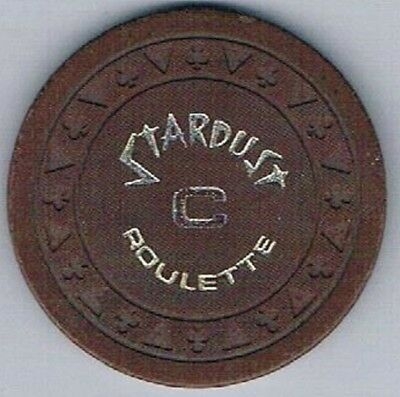 Stardust Casino Triclb Brown C Roulette Chip Las Vegas Nevada 1978