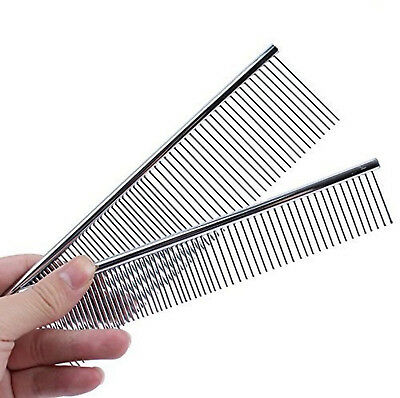 Dog Puppy Pet Grooming Greyhound Comb - 2 Sizes Medium or Large