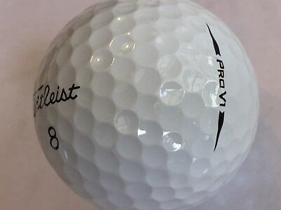 24 Titleist Pro V1 2018 ProV1 AAAA Near Mint Golf Balls Free Tees