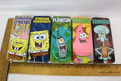 All five SpongeBob Squarepants Burger King  watches SEALED in tins 2004 NRFB