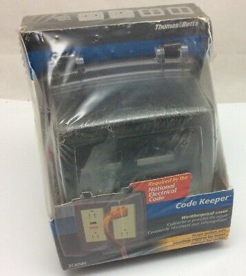 Thomas & Betts 2CKNM New Clear Waterproof Code Keeper Outlet Cover 2 Gang