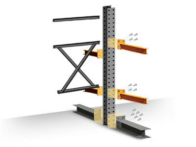 """Cantilever Rack Add-On Kit - Double Sided - 10'H x 48""""D x 60""""W with 4""""H arms"""