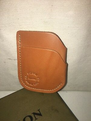 check out a6b5e 250f3 NEW IN BOX Filson Made In Usa Leather Front Pocket Cash & Card Case